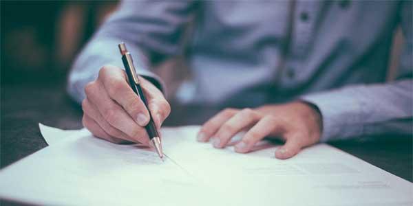 Signature d'un bail professionnel