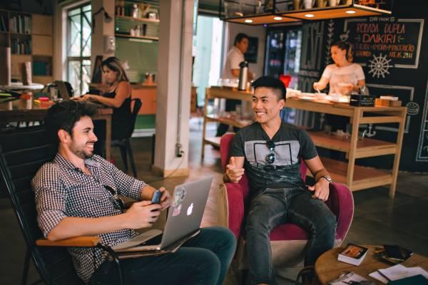 Espace détente dans un coworking